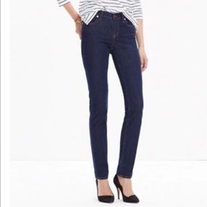 Madewell Alley Straight Classic dark wash jeans